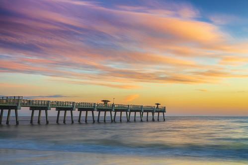 jaxbeach jacksonvillebeach florida sunrise beach pier duvalcounty