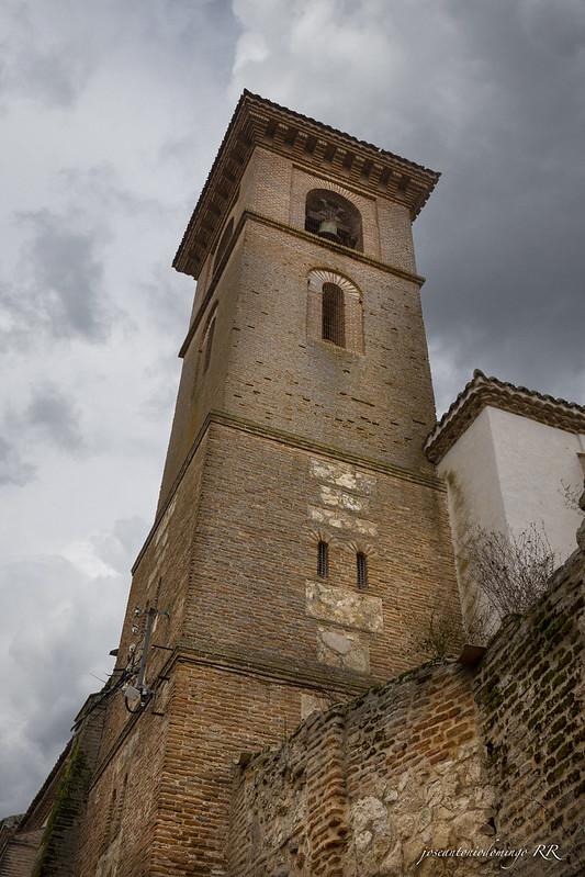 Torre de campanario. Iglesia de Sta. María de los Alcázares (Maqueda)