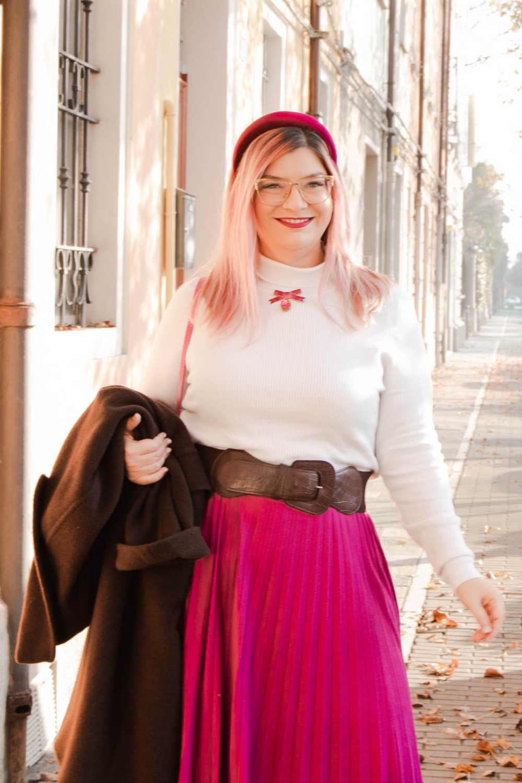 Outfit curvyplus size, come indossare la gnna in inverno (4)