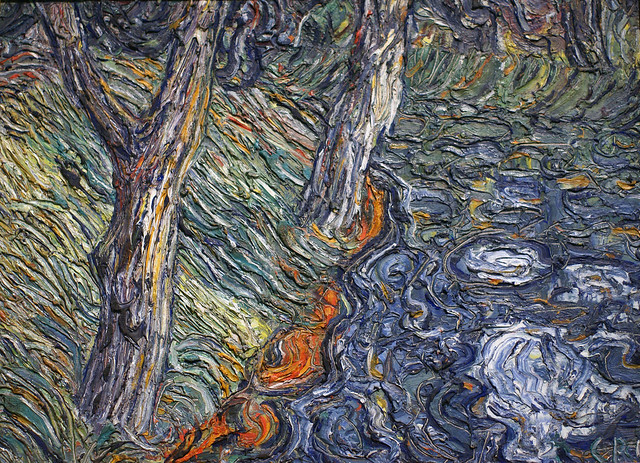 Christian Rohlfs, Bäume am Flussufer - Trees at the riverside