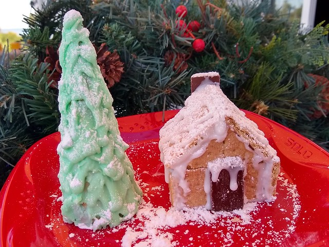 Ice Cream Cone Tree and Graham Cracker Cabin