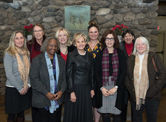 After handing out grants to local service and community organizations, members of the Elisha Leavenworth Foundation, including new member State Representative Cummings, and representatives from those organizations gathered for group photos Thursday at the warming hut at Fulton Park in Waterbury.  According to members, the foundation has provided more than $250,000 in grants to local organizations this year, and another $25,000 in scholarships. This year, grants were given to multiple organizations, including the Flanders Nature Center, Acts4 Ministry, St. Vincent DePaul Mission of Waterbury, the Waterbury Reads Gently Used Children's Book Drive, and more.
