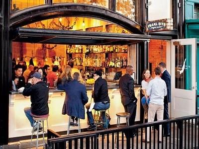 Pearl Dive restaurant, 14th Street NW, Washington, DC, open facade/bar