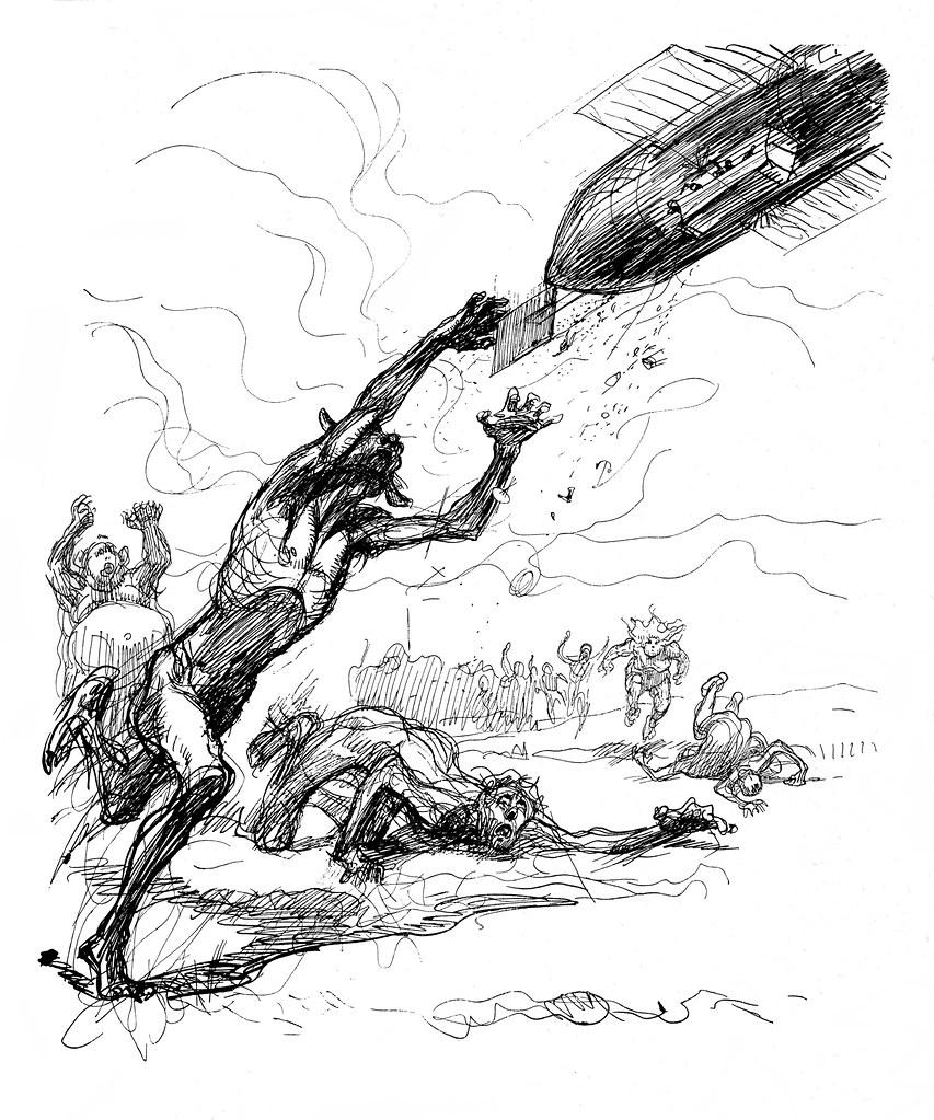 Heinrich Kley - The Airship