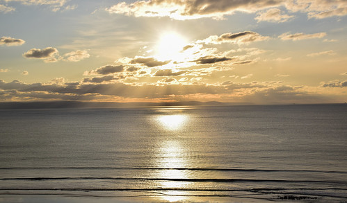 andygocher nikon d3500 uk wales southwales sunset sun clouds sky sea seascape cloudscape reflection