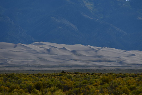 View from Zapata Ranch with a Telephoto lens. From History Comes Alive at the Great Sand Dunes National Park