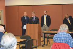 State Representatives Christopher Davis (R-57) and Tim Ackert (R-8) along with State Senator Dan Champagne (R-35) recently co-hosted an informational forum and question and answer session with the Connecticut Insurance Department at the Ellington Senior Center.