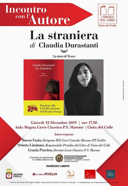 la straniera Claudia Durastanti