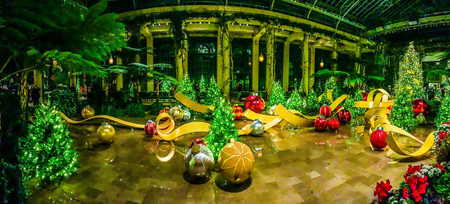 Longwood Gardens Christmas Display Pano