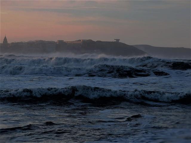 Contraste entre cielo y mar