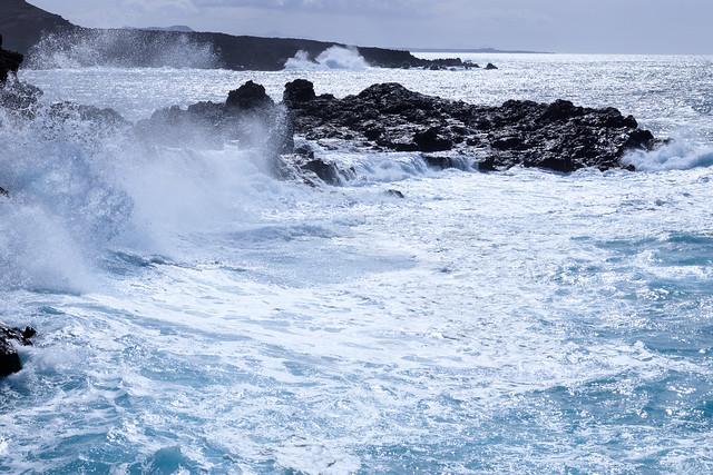 The sea at el Golfo, Lanzarote