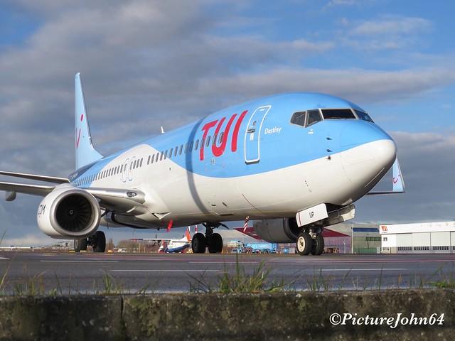 "TUI Belgium Boeing 737 ""Destiny"" (OO-TUP) at Schiphol East"