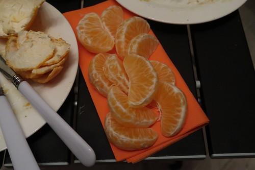 Mandarinchen als Nachtisch