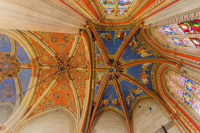 The roof in St. Pierre Cathedral,  Genève
