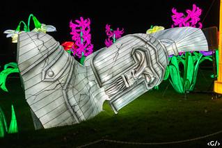 Festival of lights sculpture - roman emporor statue
