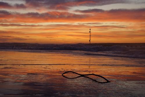 Riflessi al tramonto a Cinquale di Montignoso
