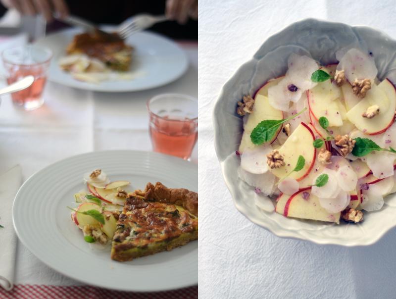 Salada de Alcachofras de Jerusalém e Maçã