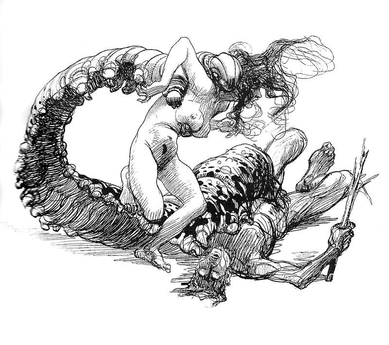 Heinrich Kley - The Caterpillar's Meal