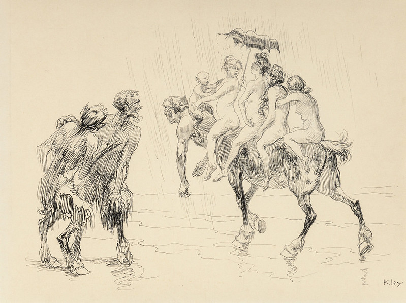 Heinrich Kley - Satyrs and Centaurs