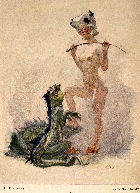 Heinrich Kley - Die Dompteuse, 1910