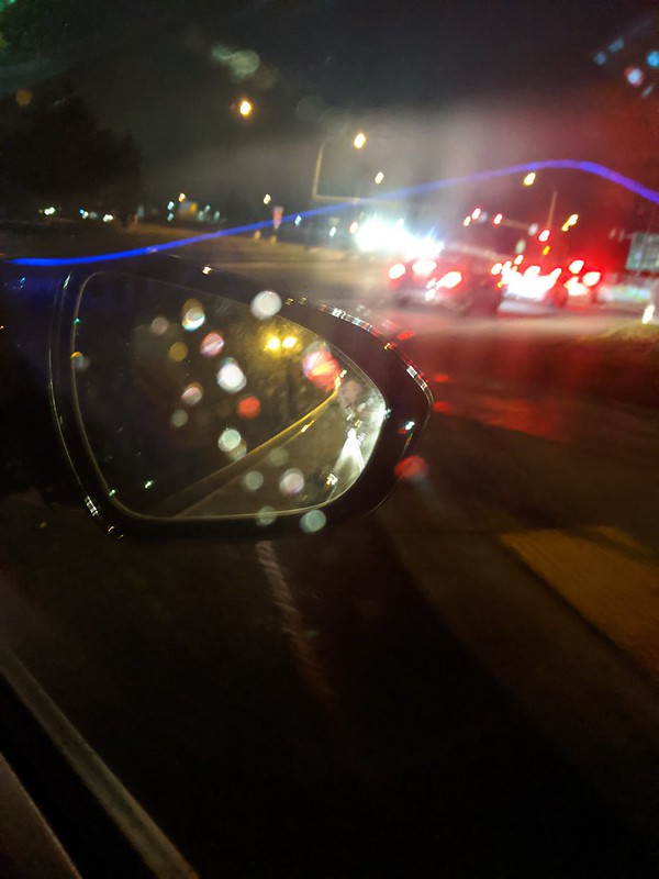 Rain in the car