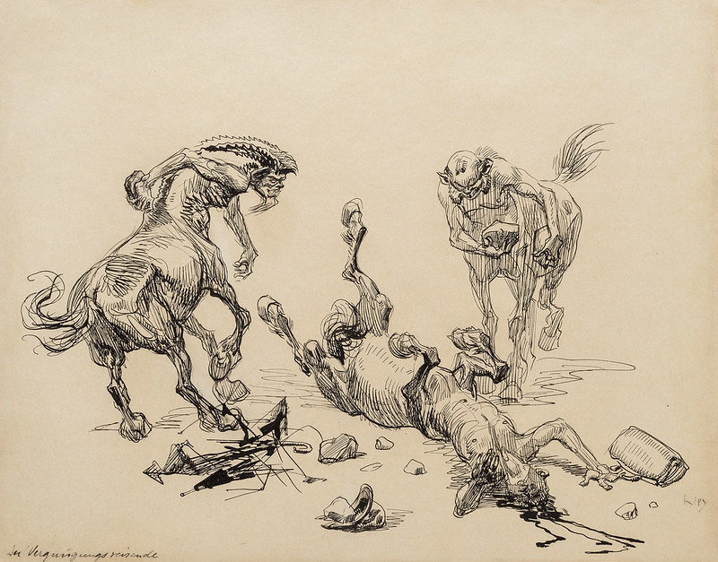 Heinrich Kley - The Traveller on a Pleasure Trip, 1910