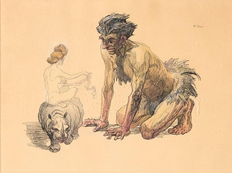 Heinrich Kley - Tempting Satan