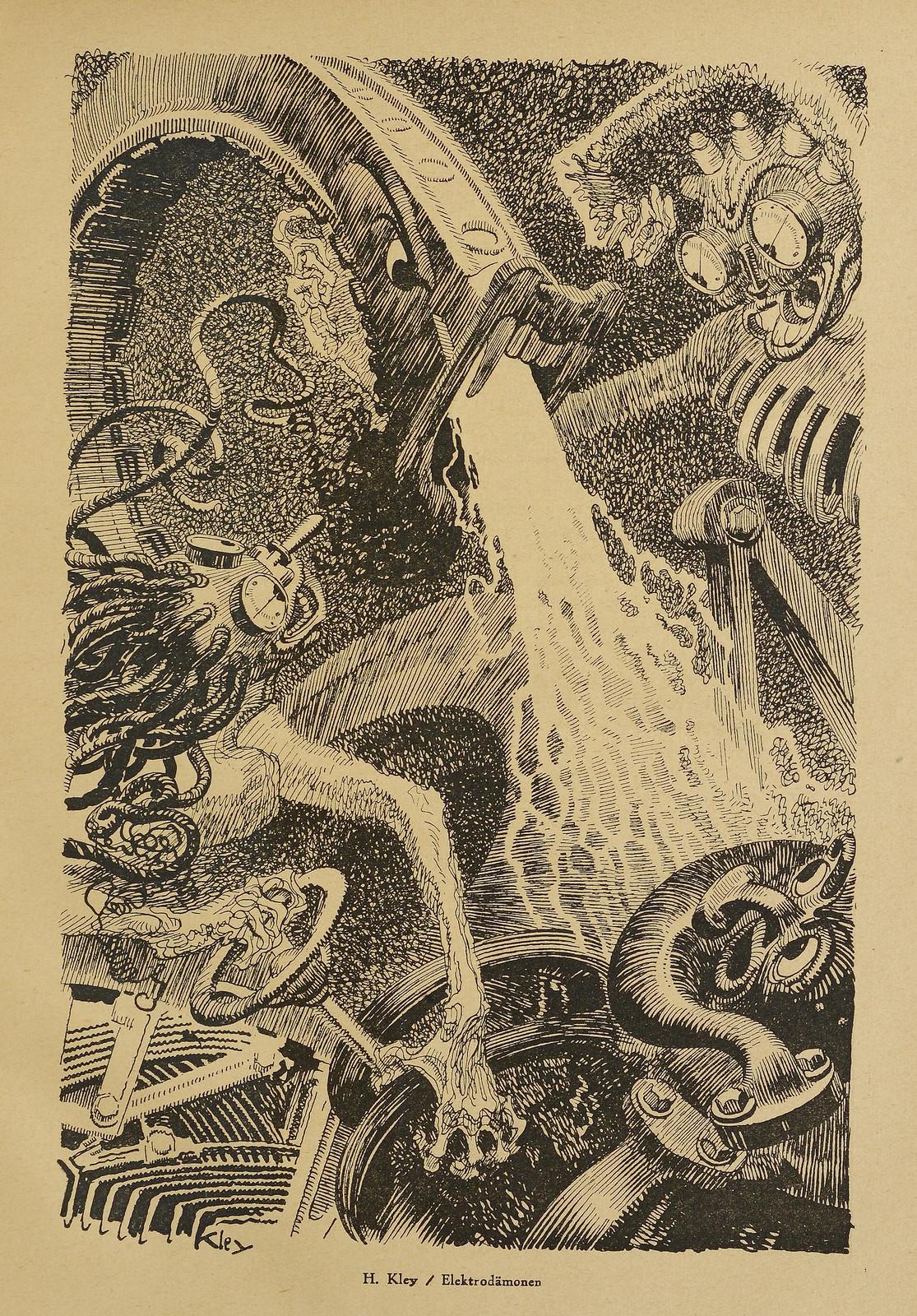 Heinrich Kley - Der Orchideengarten - 1920, Heinrich Kley - Elektrodamonen