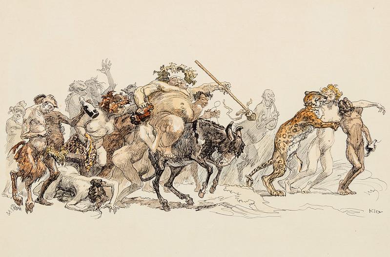 Heinrich Kley - Bacchanalian Procession