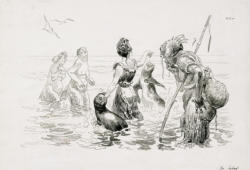 Heinrich Kley - At a Seaside Resort, 1910