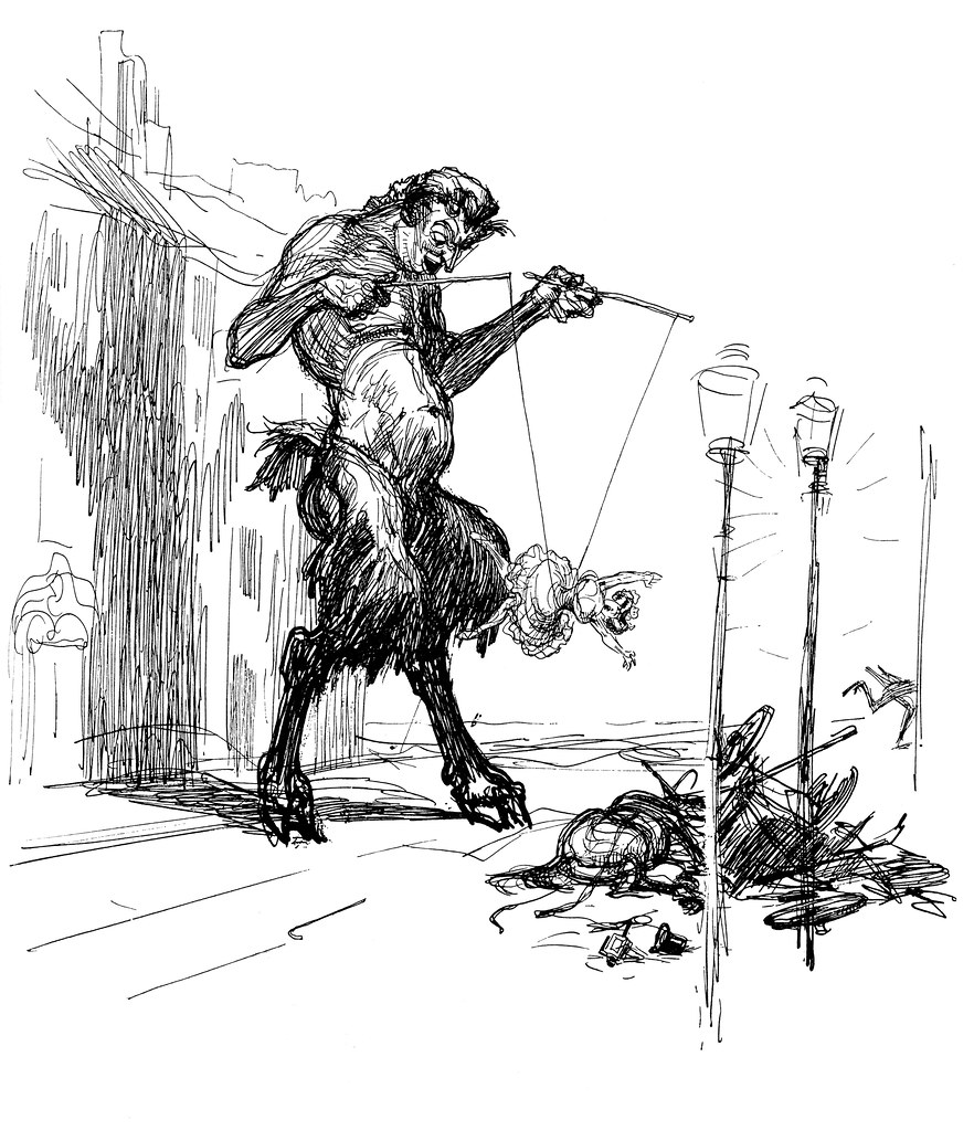 Heinrich Kley - A Game of Diabolerina