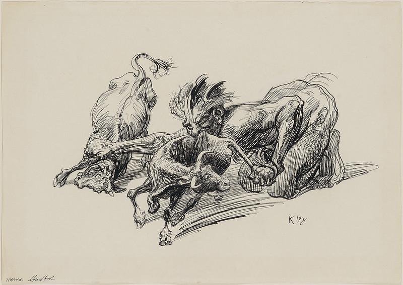 Heinrich Kley - A Hot Evening Meal, 1910