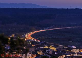 Garcia i carretera cap a Lleida molt transitada