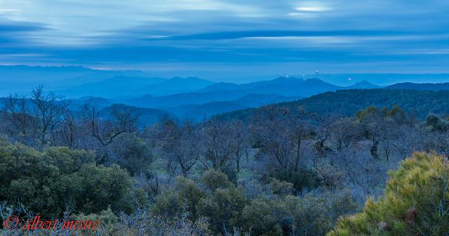 Muntanyes des de La Figuera al cami del Guixar