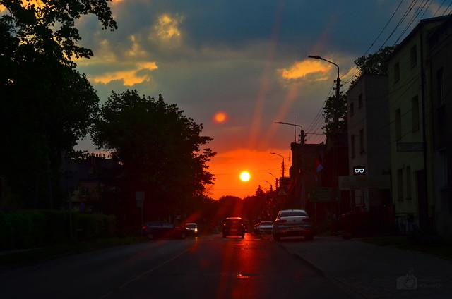 Setting sun - Wojkowice