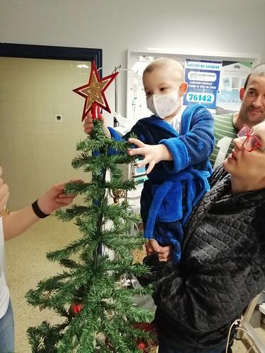 Decoración navideña en el Hospital. Diciembre 2019