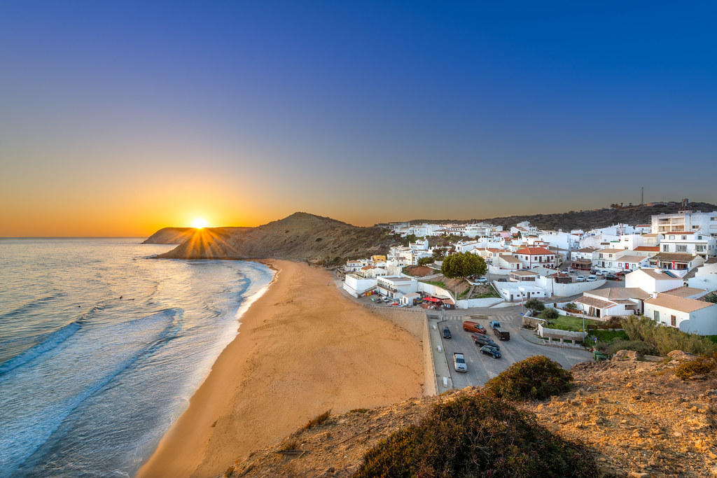 Sunset At Burgau
