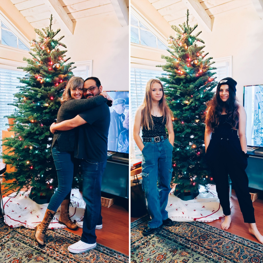 Us with Norman, the tree