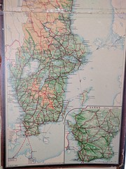 Sweden South Railway Map