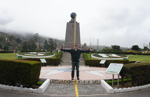 Chacana & Equatorial Monument (latitude 0º0'8''), Middle of the World City at 2,483 meters (8,146 ft) above sea level, Ecuador.