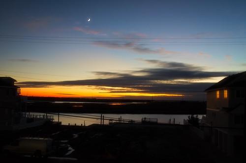 avalon avalonnj avalonnewjersey newjersey jerseyshore sunset silhouettes newjerseysunset sunsetreflections