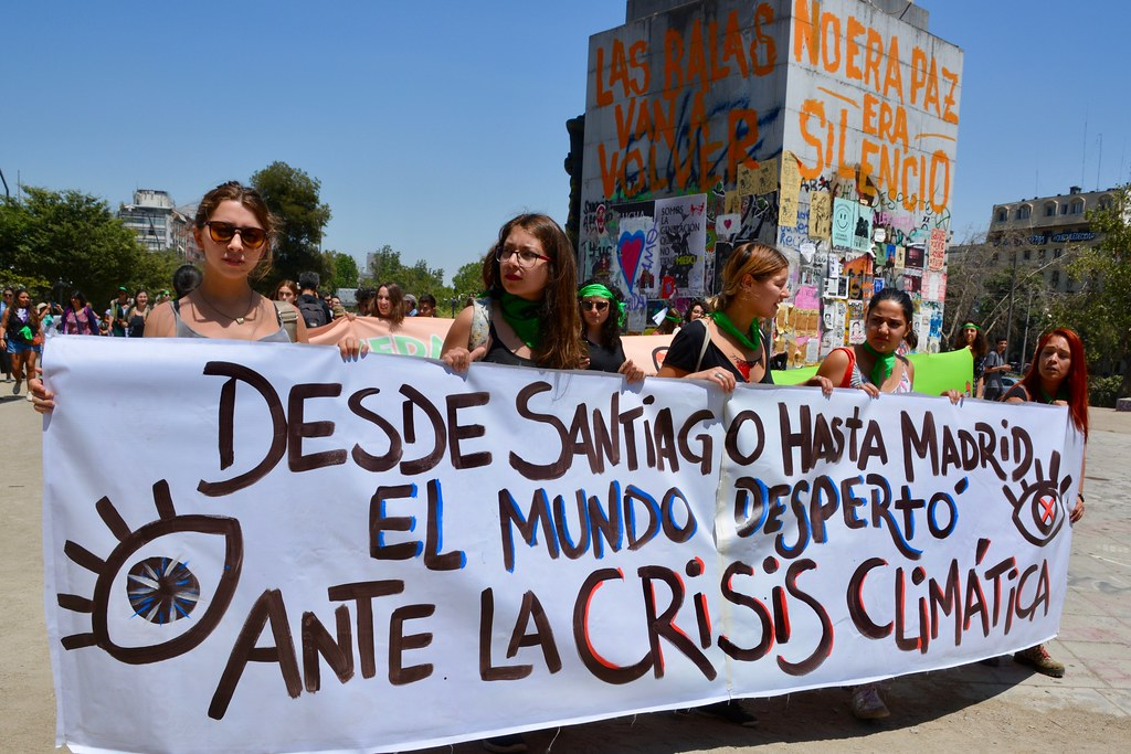 Climate protest in Santiago, Chile
