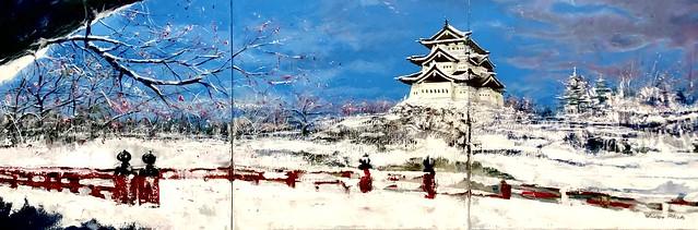 Winter Hiroshima Castle Japan