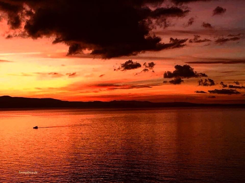 Sunset over th Adriaticsea