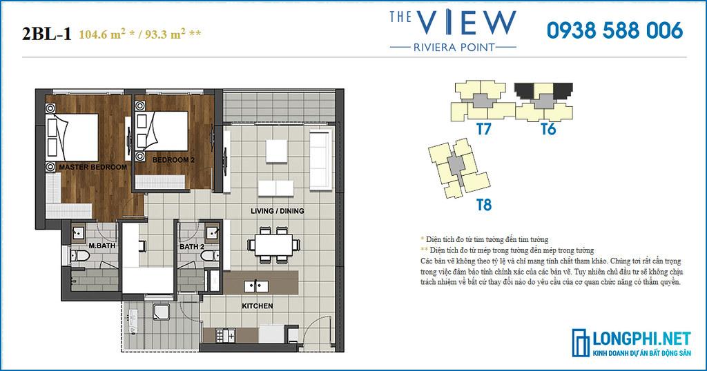 Chuyển nhượng/bán lại căn hộ 2 phòng ngủ tháp 6 The View - Riviera Point quận 7, nhà hoàn thiện.