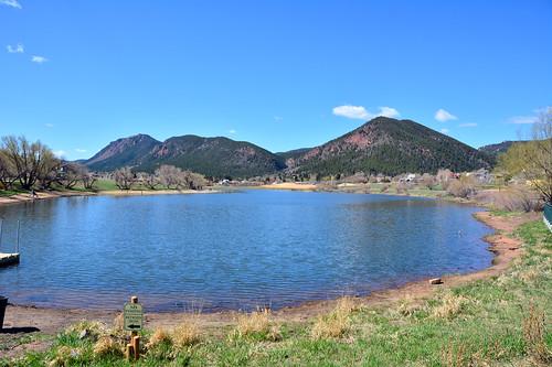 jmstrain colorado palmerlake mountains water lake landscape