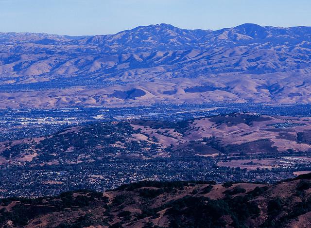 Mt. Hamilton from Mt. Umunhum, San Jose, California