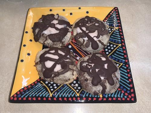 2019 342/365 12/08/2019 SUNDAY - Chocolate Thumbprint Cookies with Chambord-Mascarpone Filling