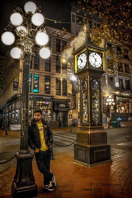 'Blowing off steam' -  Gastown Steam Clock