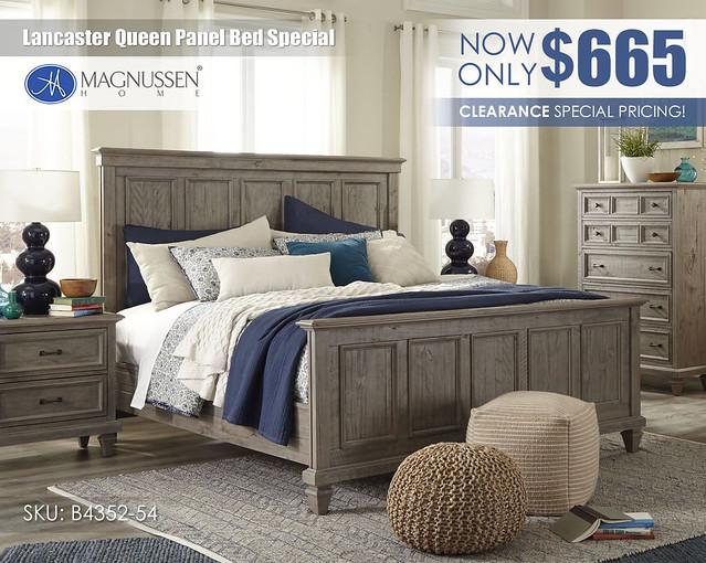 Lancaster Queen Panel Bed Special_b4352-54